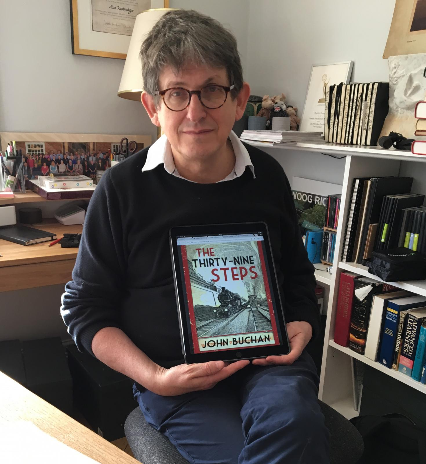 Our Principal, Alan Rusbridger, with his recommendation for World Book Day 2017