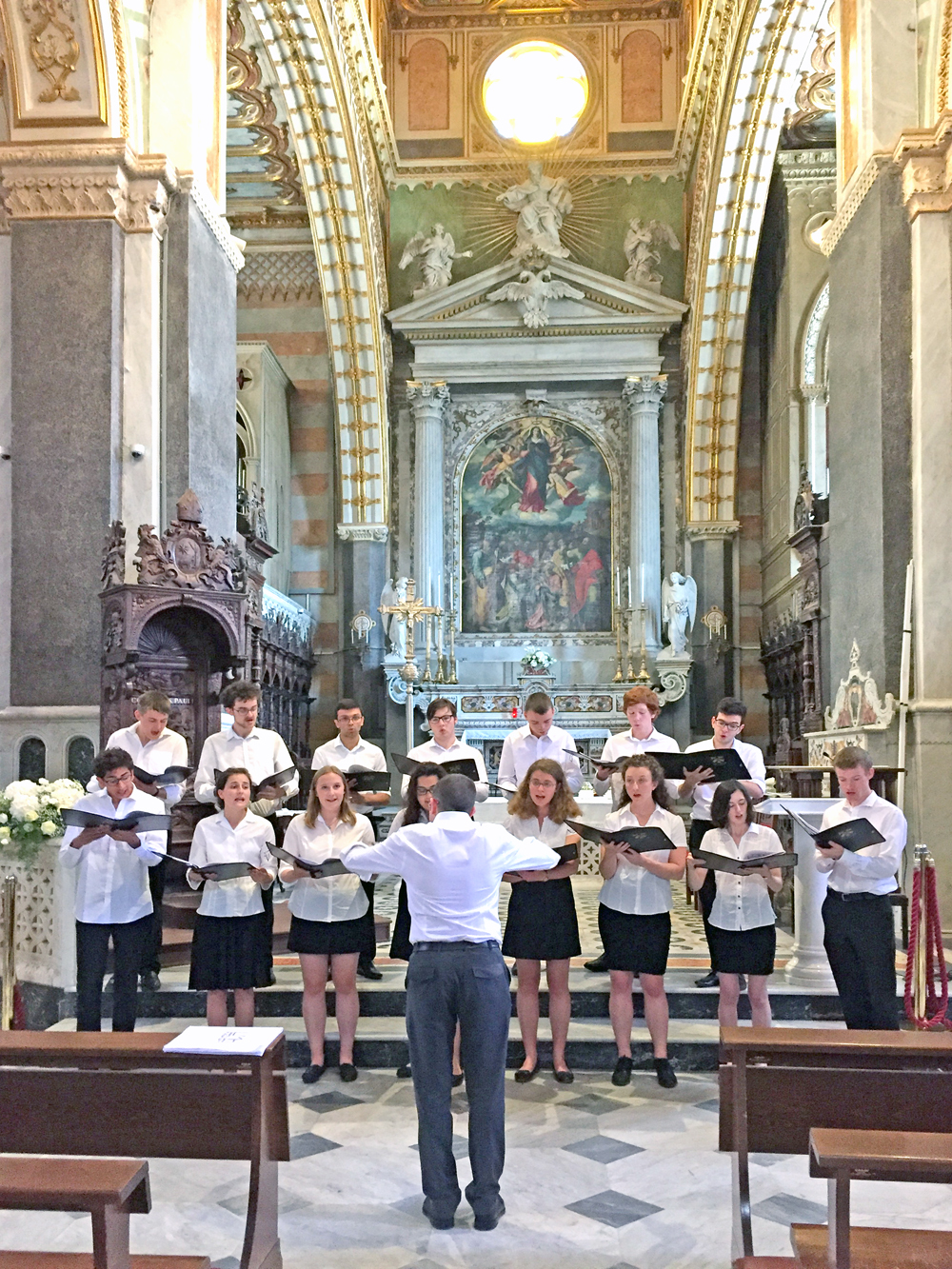 Performing inside Altamura Cathedral