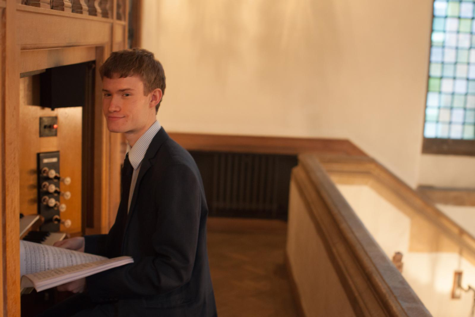 LMH Organ Scholar Guy Steed