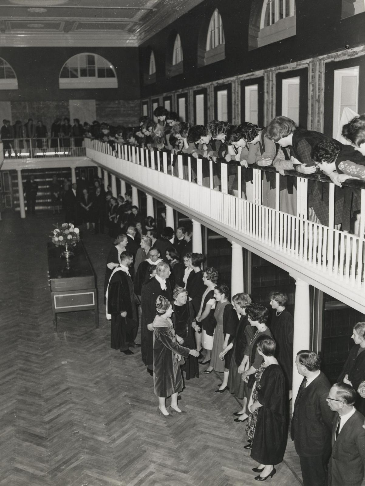 The Queen opens LMH Library c.1960