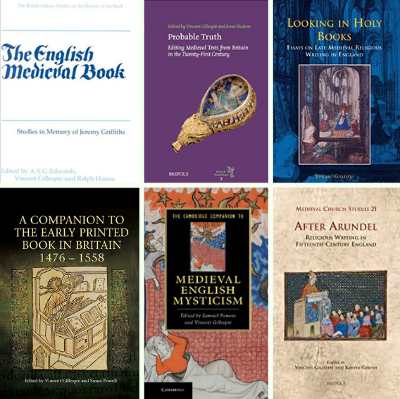 Prof Vincent Gillespie's books