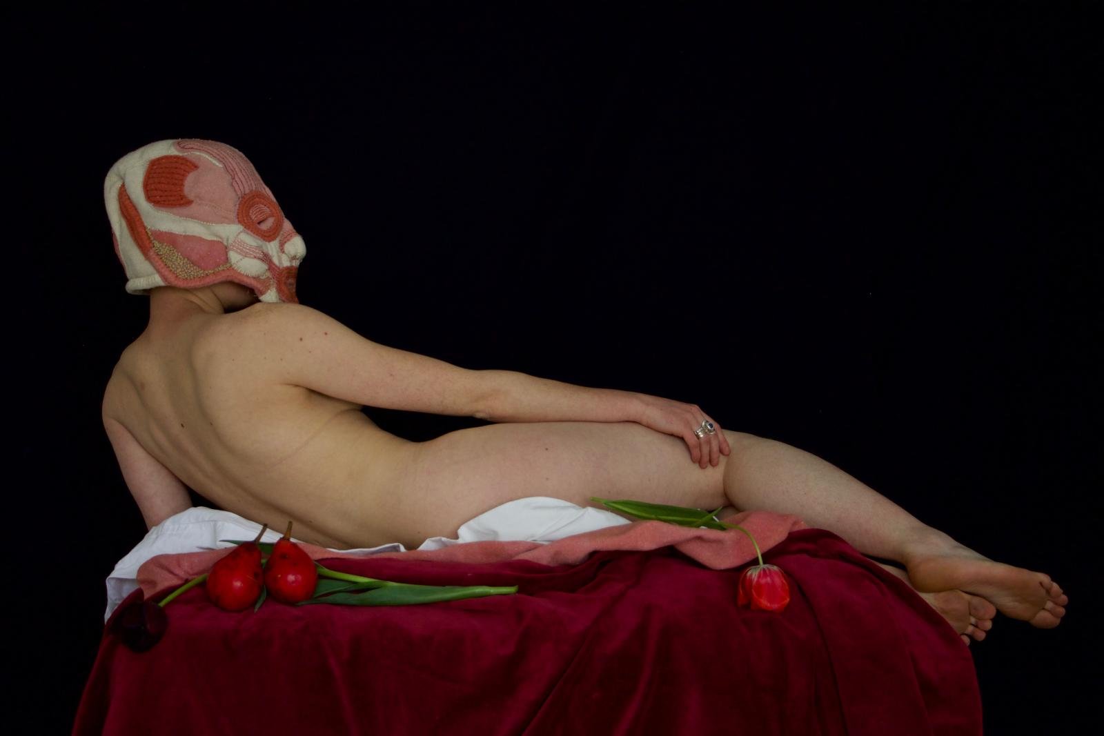 ''Nature Morte: Do Women have to be Dead to get into the Dissection Rooms?'- artwork by LMH student Rhian Harris-Mussi
