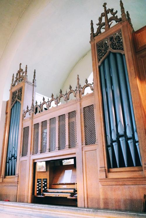 The LMH Organ which sits in the Chapel