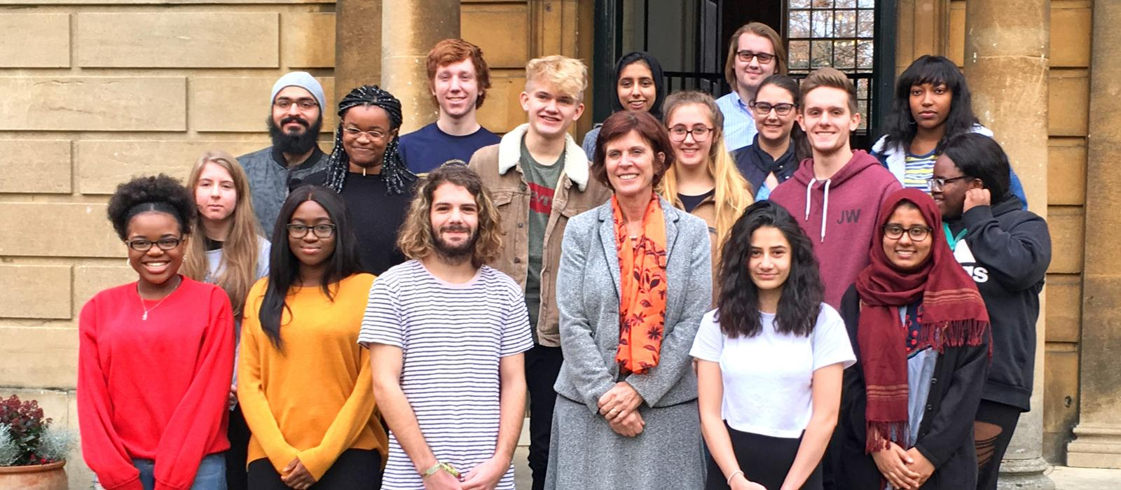 Louise Richardson meets the second Foundation Year students