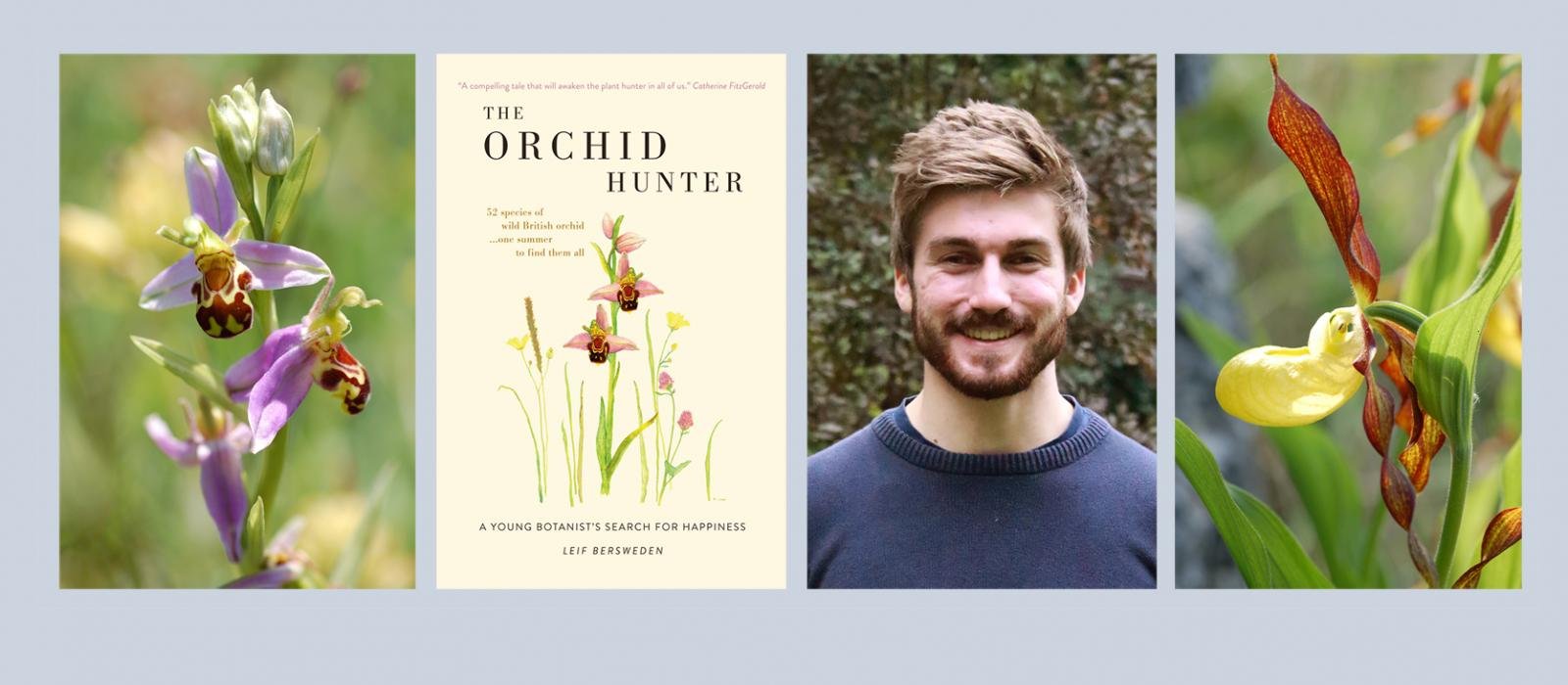 Leif Bersweden and his new book, The Orchid Hunter