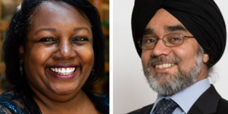 Rabinder Singh and Malorie Blackman cropped