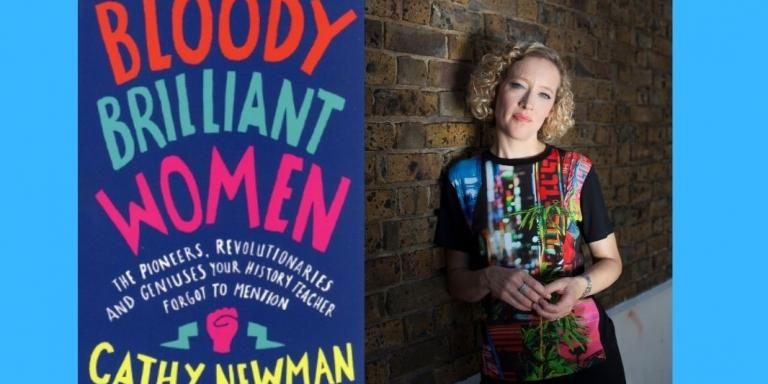 Cathy Newman and book cover