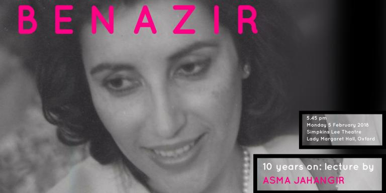 Remembering Benazir Bhutto - a lecture to mark the tenth anniversary of her death