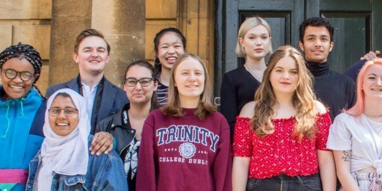 FY students cropped standing 2019 Talbot Hall
