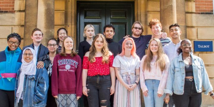 Foundation Year Students from 2016-2019 outside Talbot Hall